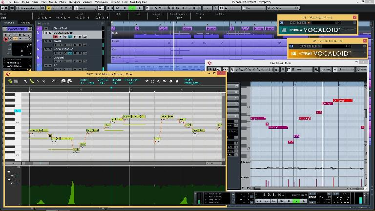 The Vocaloid 4 Editor running in Steinberg Cubase.