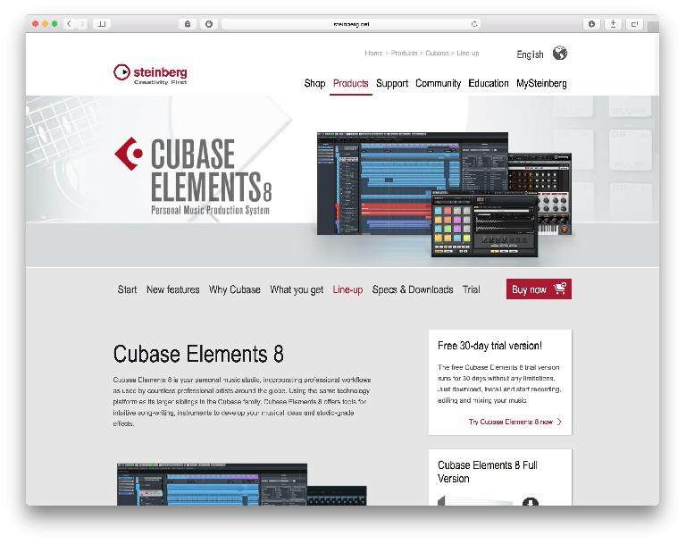 Cubase Elements – very affordable