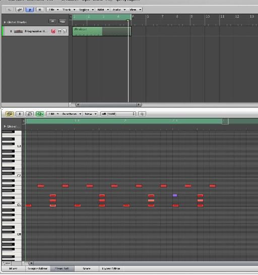 The MIDI is dragged to a new track