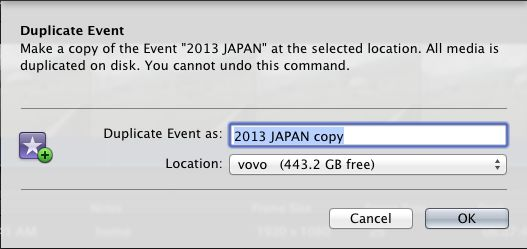 Select your Event, then choose File > Duplicate, and pick your working drive.