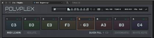 Use MIDI learn to quickly assign pads or notes to slots.