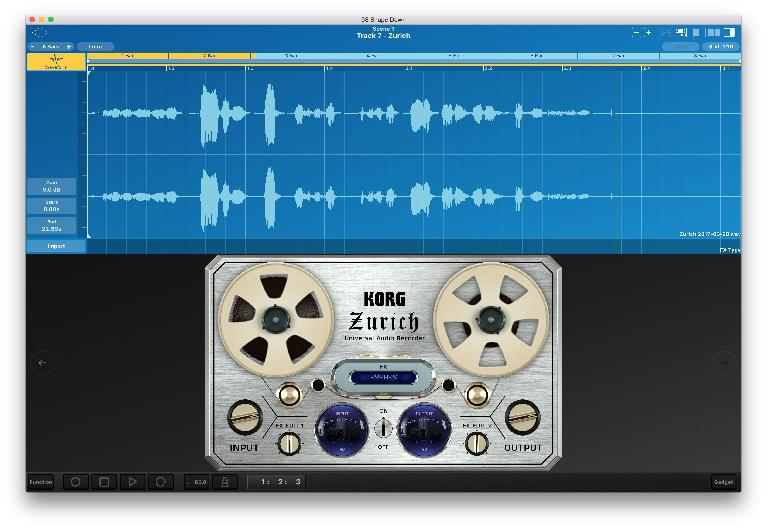 Recording audio parts with the new Zurich gadget