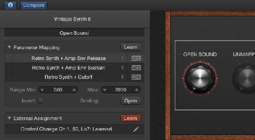Click on Learn and move a knob on your MIDI controller.