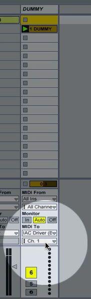 MIDI IAC Driver.