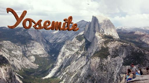 Finally, something appropriate: Yosemite, in Yosemite, in Redwood.