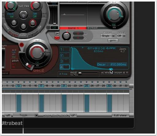 Change the release of the kick to suit the BPM of your track.