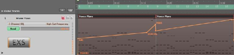 piano in Logic Pro
