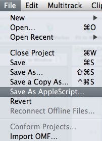 Save as Applescript