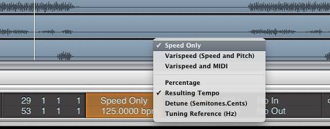 Getting the Varispeed settings correct is important.