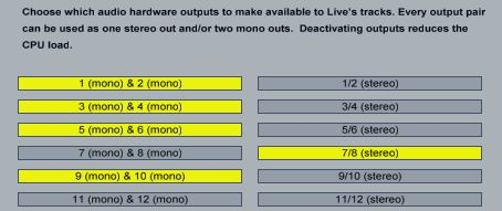 You can choose to use inputs and outputs as mono or stereo pairs.