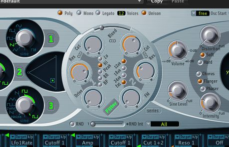 (Pic 1c)  Logic's ES2 has a very different way of changing modes and animates as it does so!