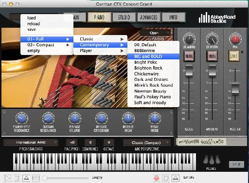 The presets available depend on which install type you chose '