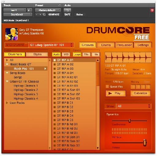 DrumCore Free Version 3