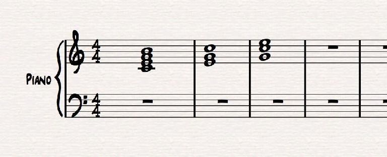 C major, in root position, and 1st & 2nd inversion