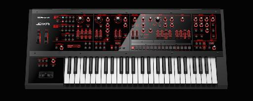 Roland JD-XA analog/digital hybrid synthesizer above view.