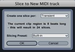 Slice to New MIDI Track default options