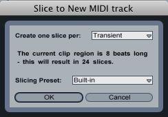 Slice to New MIDI Track default options