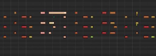 Piano Roll in Logic Pro X.