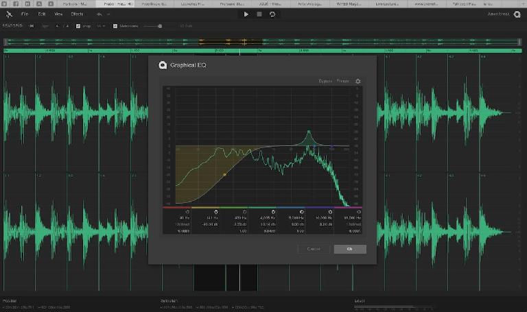 The graphic EQ in Audiotools Probe works as seamlessly as an EQ plugin in a major DAW.