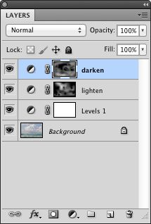 Layer panel with adjustment layer