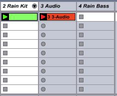 Record the drum loop to the Resample Track