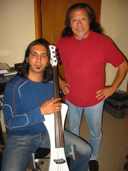 Kitaro and Alexander in the studio.