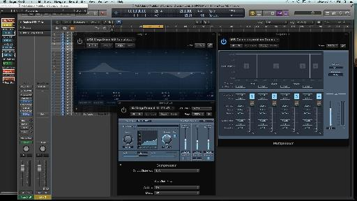 Fig. 5 Multiband compression vs. EQ & single-band compression, on a problem drum kit recording.
