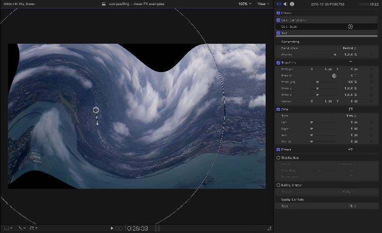 Controls on the viewer in FCP X make things easy to change