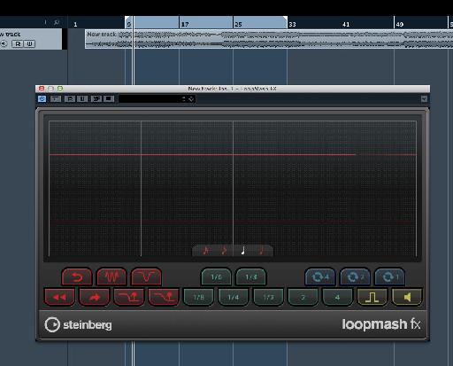 The Loopmash FX plug-in is loaded and ready to chop your audio!