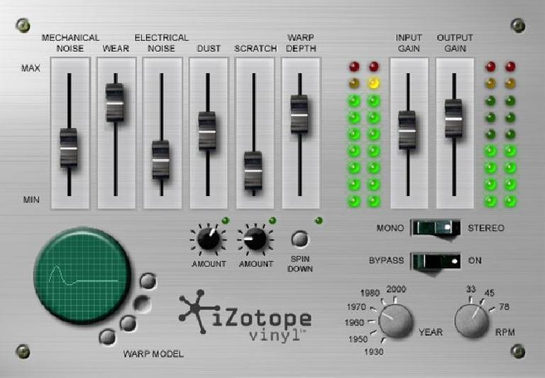 iZotope Vinyl re-issued and now available for AAX / VST3.