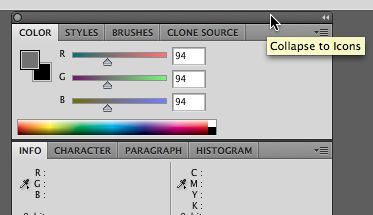 Collapse panels to icon buttons