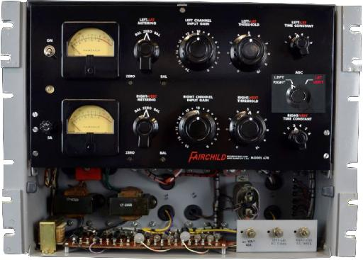 Fig 4 A Fairchild 670 Compressor with its options for normal Stereo (LEFT/RIGHT) or Mid-Side (LAT/VERT) processing, intended primarily for (vinyl) Mastering applications.