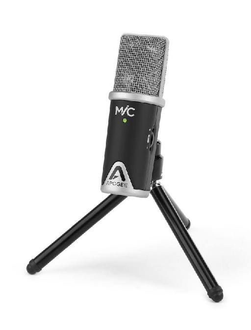 Apogee MiC on the included tripod.