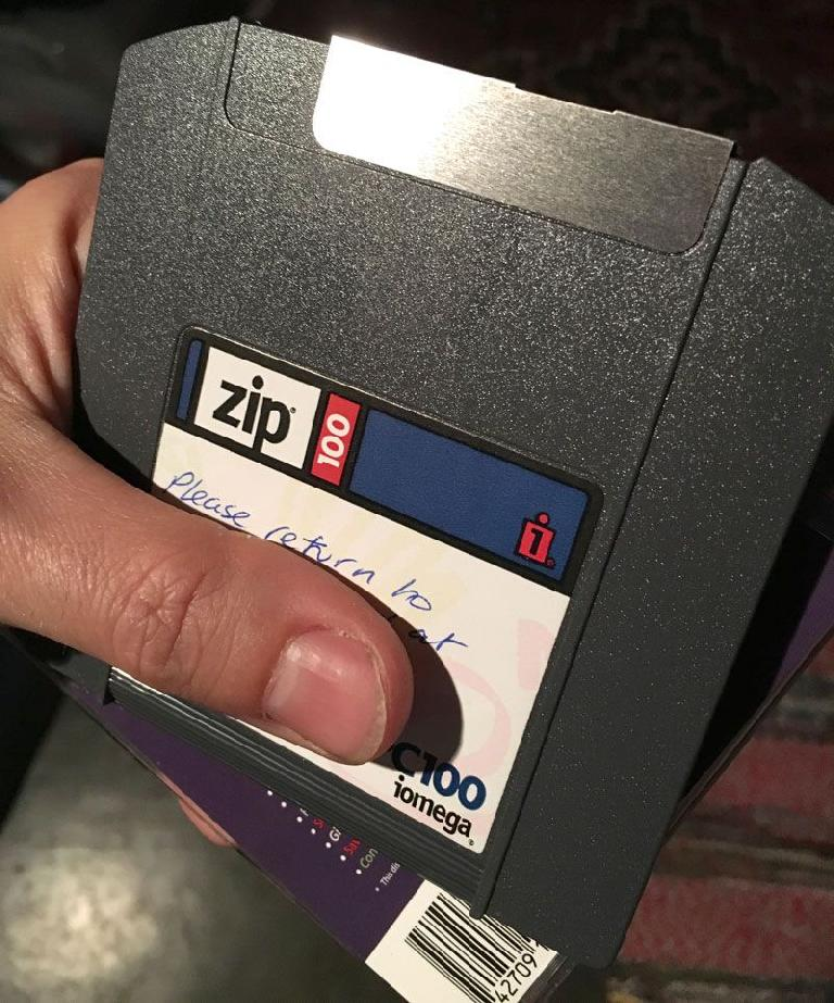 Afraid I don't think this person will be getting their Zip disk back any time soon.