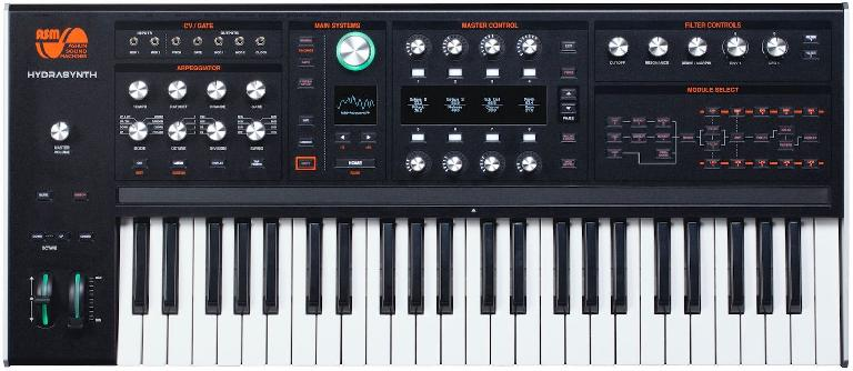 Ashun Sound Machines Hydrasynth with keyboard