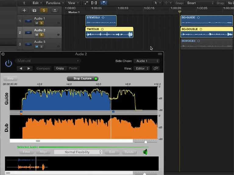 three audio files