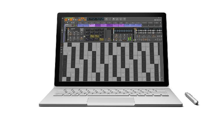 Bitwig Studio 1.3 on Surface Book.