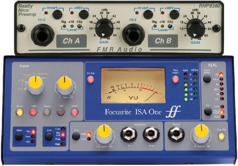 Fig 6 Focusrite ISA-One & FMR RNP (Really Nice Preamp)