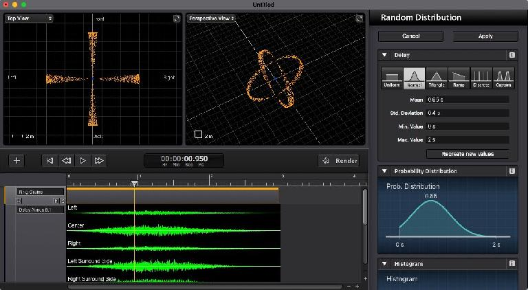 Sound Particles includes random generators for truly organic audio.