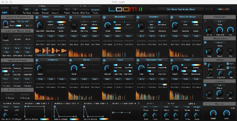 Air Music Tech Loom II interface.
