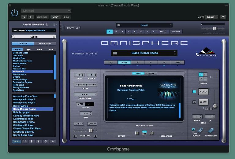 Spectrasonics Keyscape Creative GUI 1
