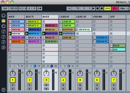 The stems in the Ableton project.