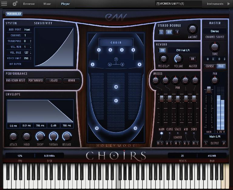 EastWest Hollywood Choirs GUI
