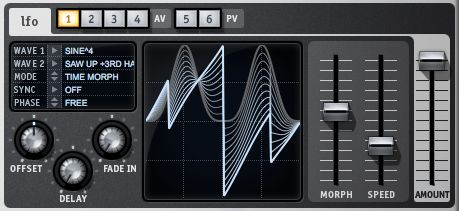 Pic 5. Use the Morph slider to create completely new LFO shapes.