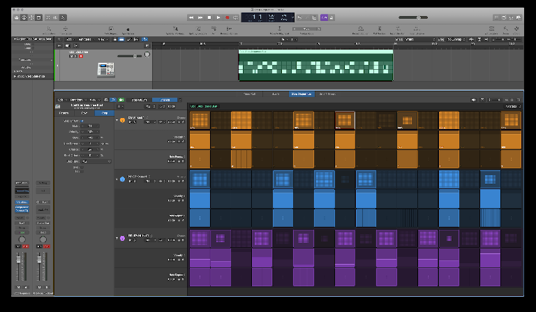 Logic Pro X 10.5. Step Sequencer