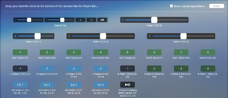 Customise MIDI Touchbar