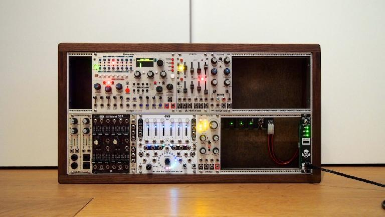 Intellijel Rainmaker eurorack module in a synth rack.