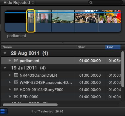 FCP Marked Clip