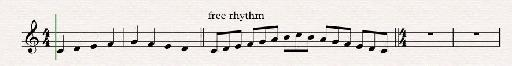 notate in free rhythm 1f