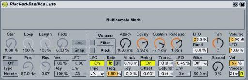 "Once a Sampler preset is converted to Simpler, the words ""Multisample Mode"" indicate that you are playing back a multi-sampled preset created in Sampler."